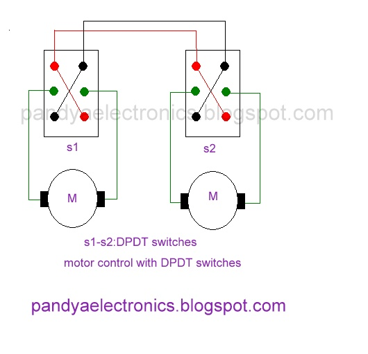 pandya electronics motor direction control with dpdt switch. Black Bedroom Furniture Sets. Home Design Ideas