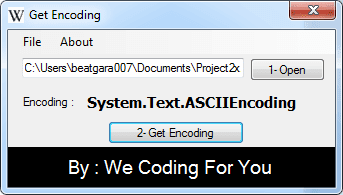 Get Unicode Source Code
