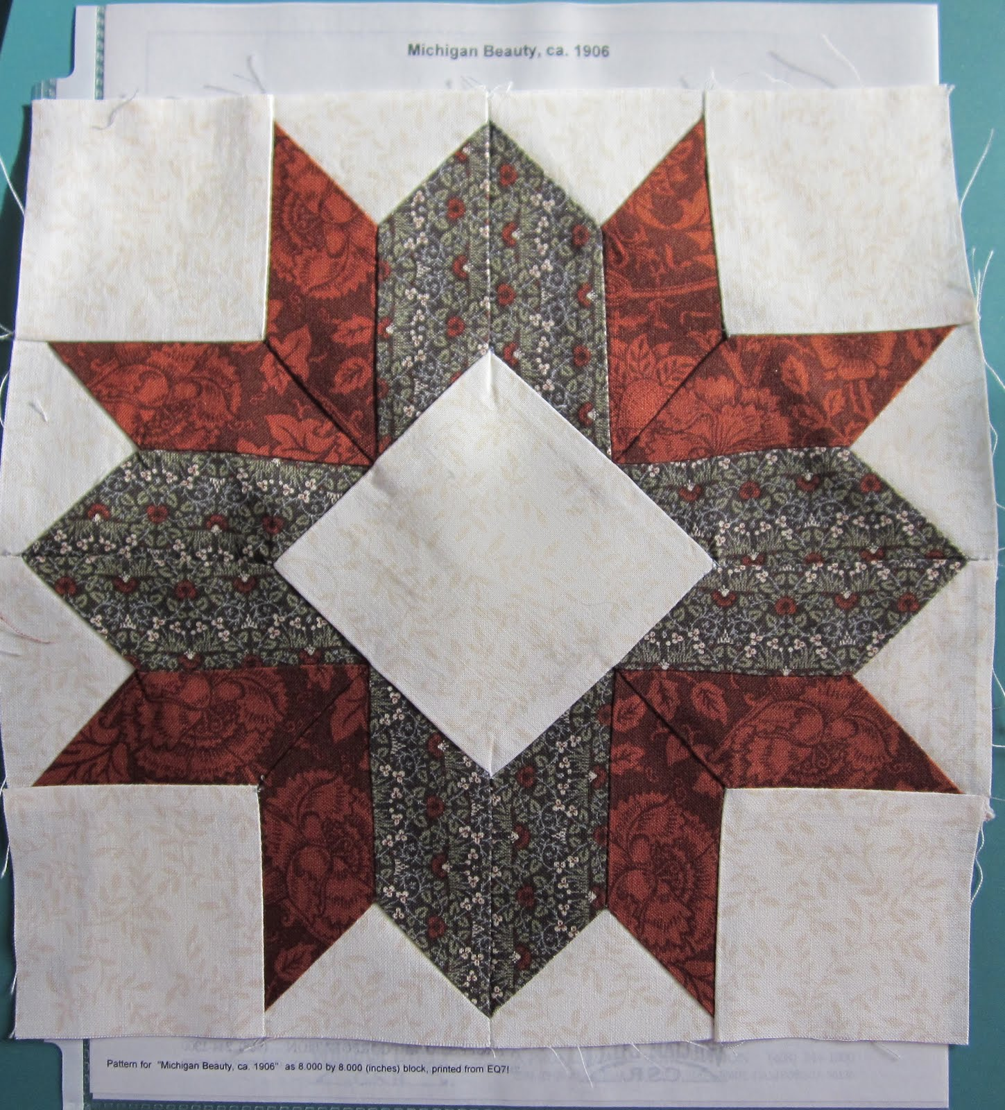 Laurelhurst Craftsman Bungalow Quilt Blocks Finished