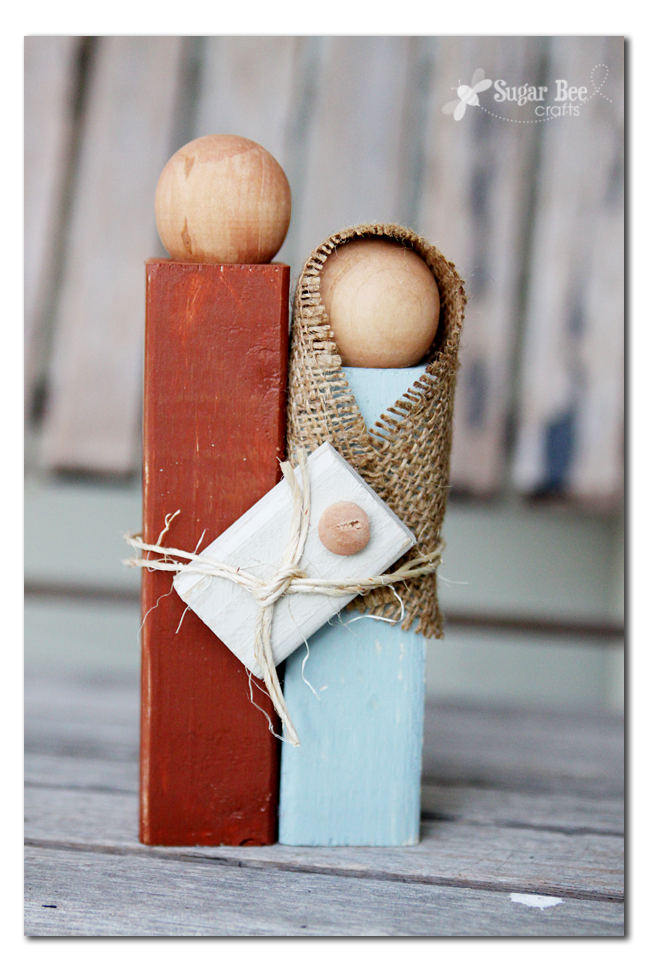 Wooden Nativity Silhouette Statue - Sugar Bee Crafts