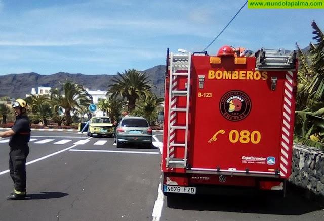 Accidente de dos vehículos en Los Llanos de Aridane