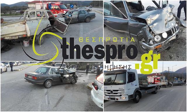 Ηγουμενίτσα: Σοβαρό τροχαίο ατύχημα με 5 τραυματίες (+ΦΩΤΟ)