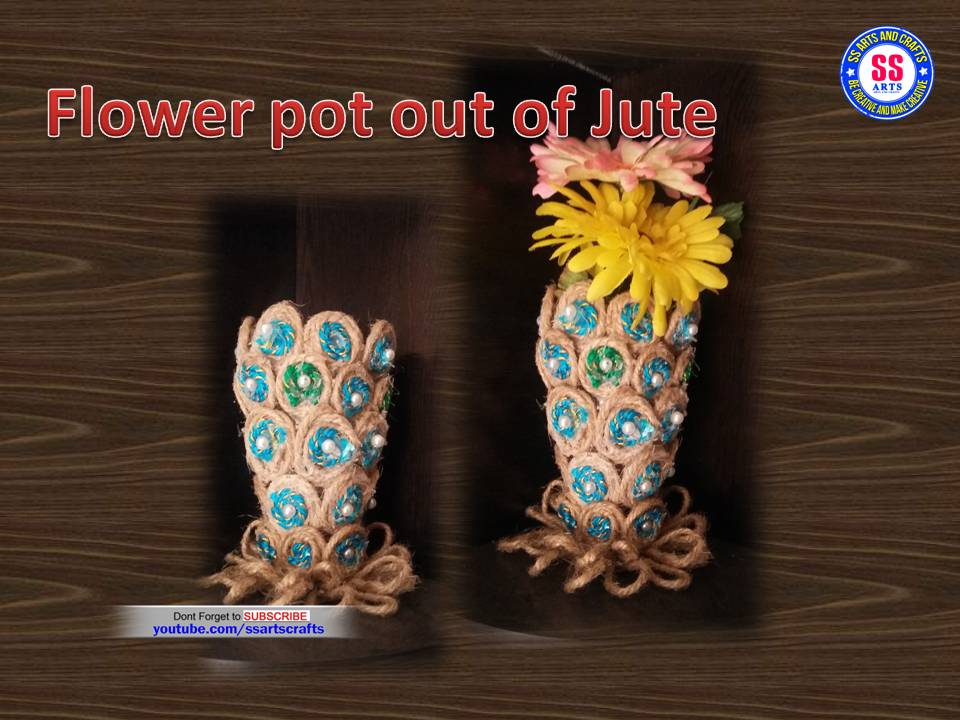 Flower Pot Using With Jute