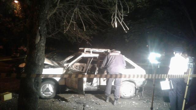 В Уфе сгорела машина, в салоне обнаружено тело