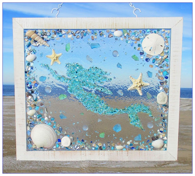 SeaGlass WINDOW Art DIY