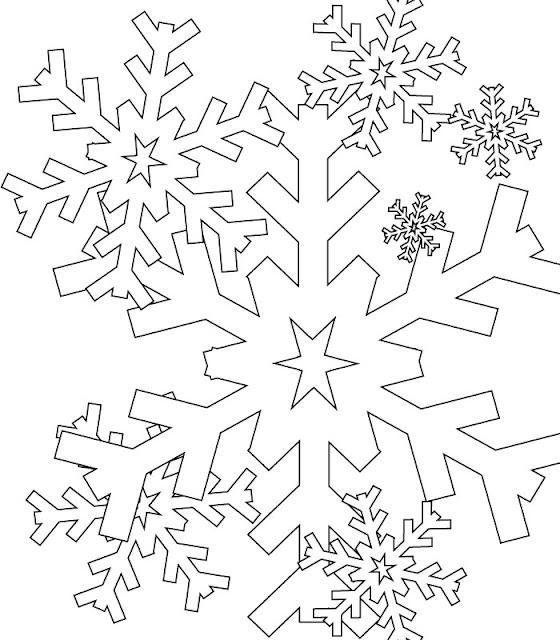coloriage neige