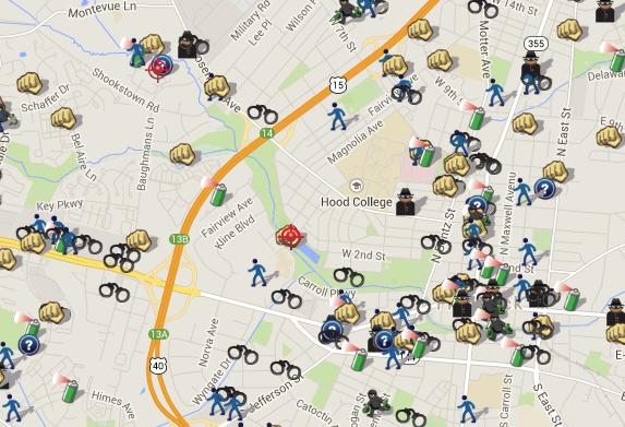 SpotCrime - The Public's Crime Map: Crime in Frederick, MD