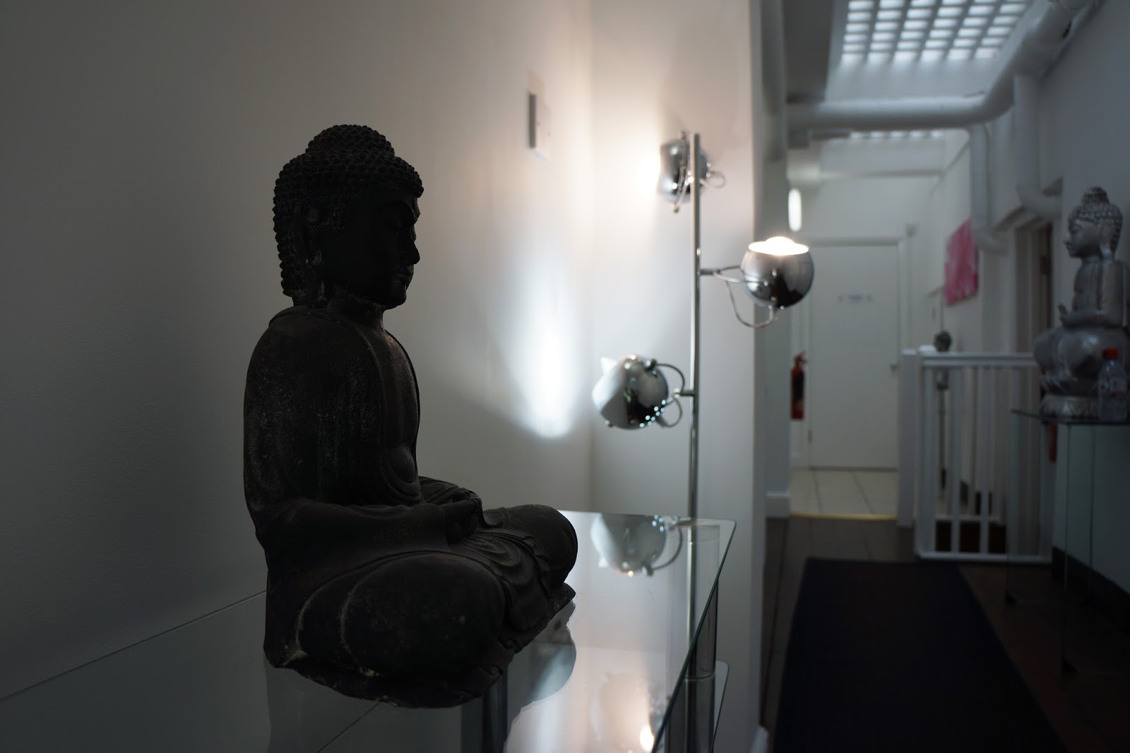 buddha decoration at a cosmetologist new york laser clinic
