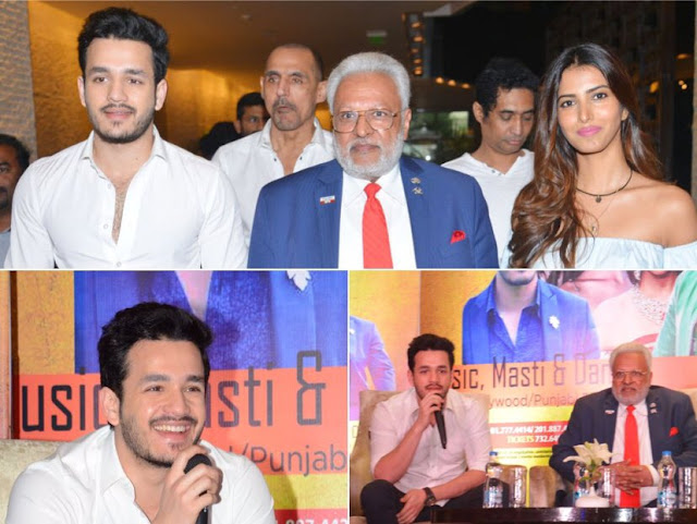 akkineni akhil, manasvi mamgai at an event stills