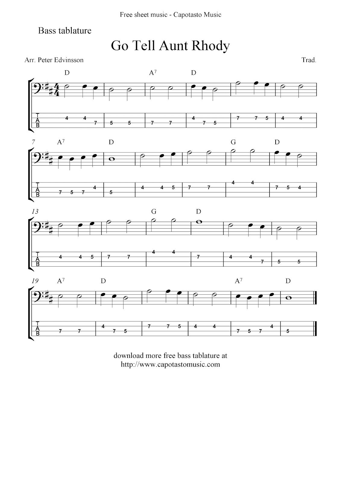 Free Sheet Music Easy Guitar