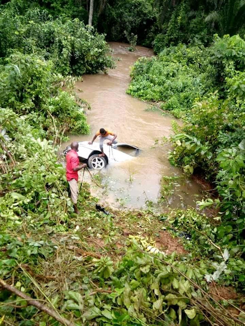 Loaded Car Plunges Into River After Somersaulting 3 Times