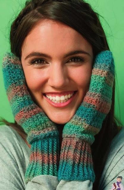 Patrón #1233: Starry Mittens a Crochet