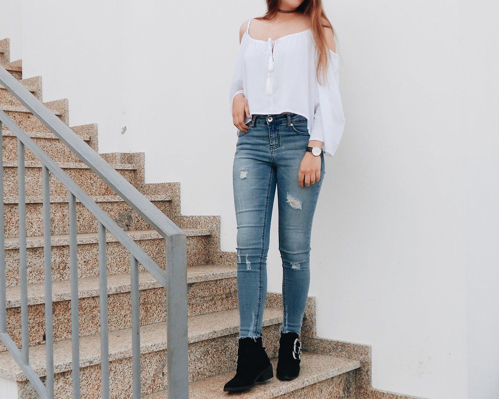 OOTD | WHITE BLOUSE FROM GAMISS