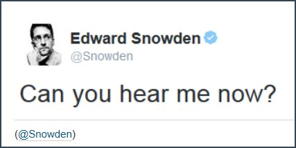Edward Snowden joined Twitter