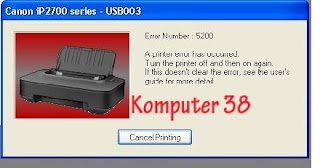 Cara Reset Printer ip2770 dan ip2700