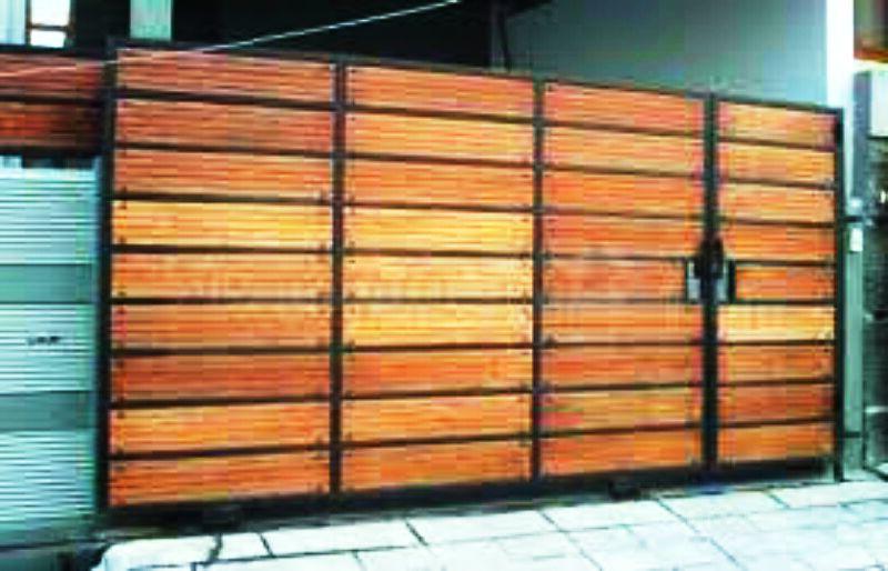 Model Pagar Kayu Ulin Minimalis Modern