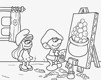 Smurfette Coloring Pages Free