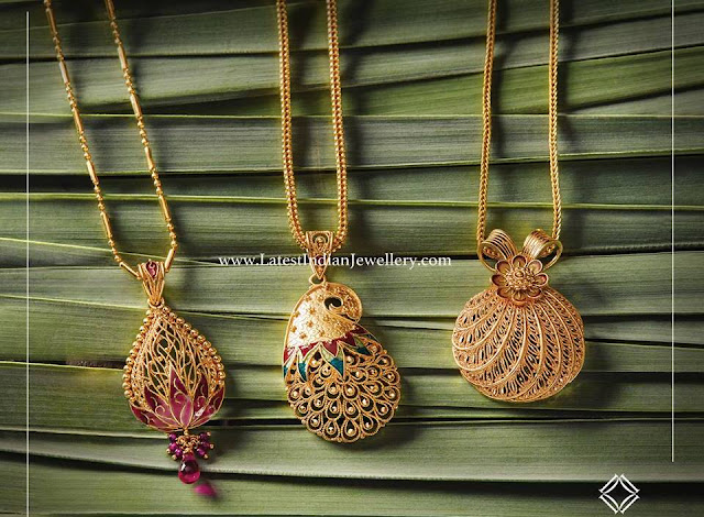 Assorted Gold Pendant Designs