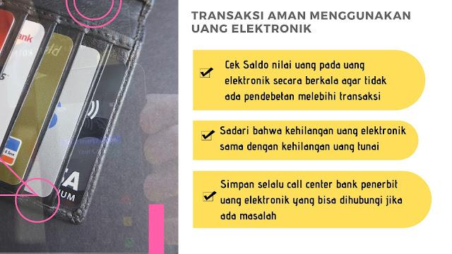 infografis cara aman transaksi uang elektronik