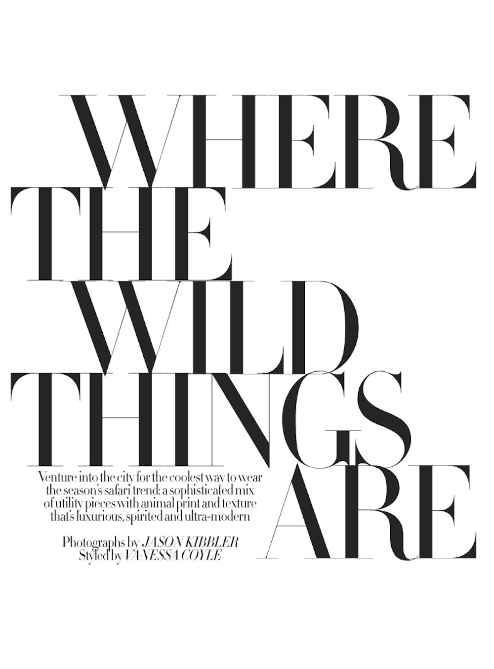 where the wild things are: marloes horst by jason kibbler