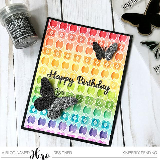 handmade birthday card by Kimberly Rendino | watercolor | hero arts | kimpletekreativity.blogspot.com | butterfly |  papercraft | cardmaking