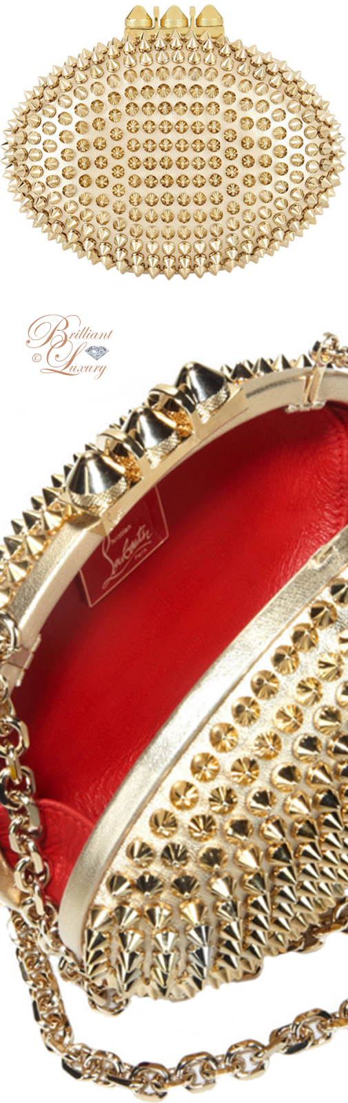 Brilliant Luxury ♦ Christian Louboutin Mina clutch spikes