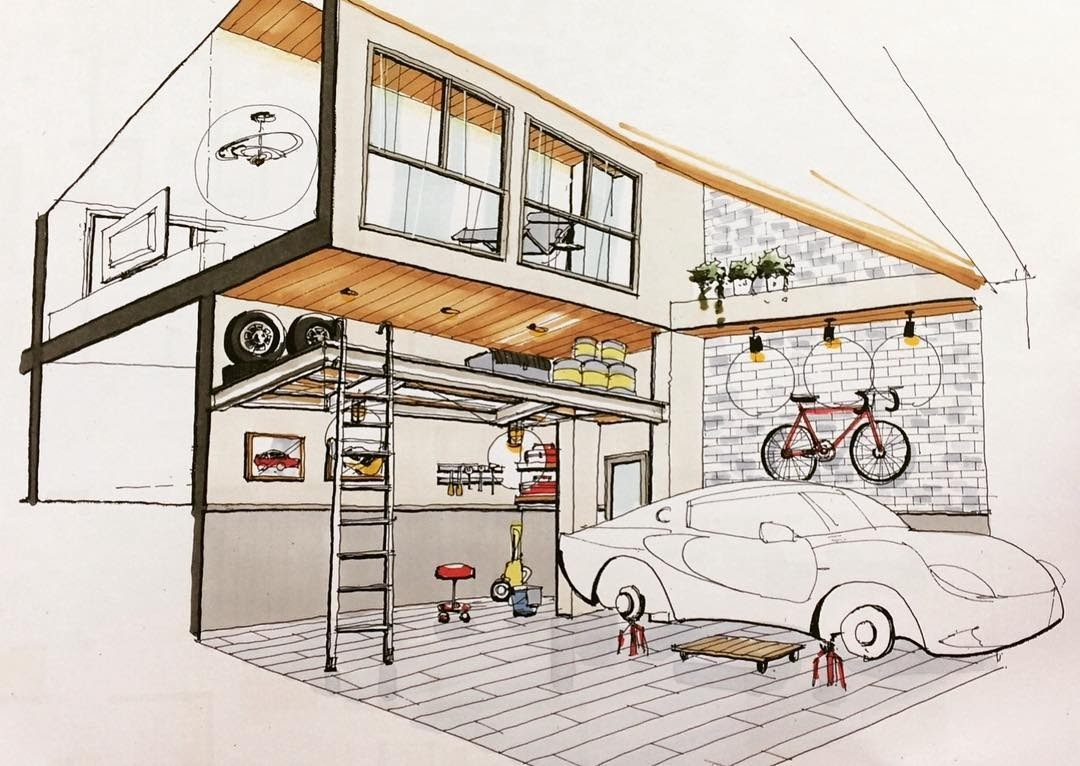 05-Car-Garage-miyacyan-Sophisticated-Interior-Design-Drawings-www-designstack-co