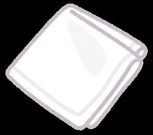 ハンカチのイラスト(白)
