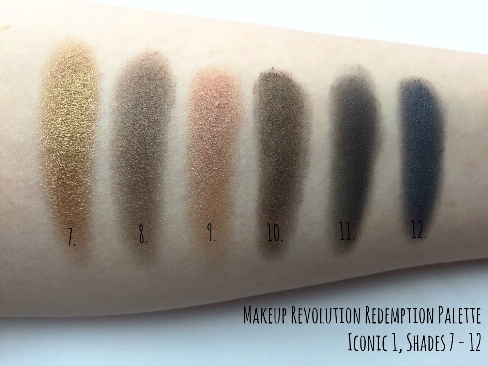 Makeup Revolution Redemption Palette Iconic 1 Swatch