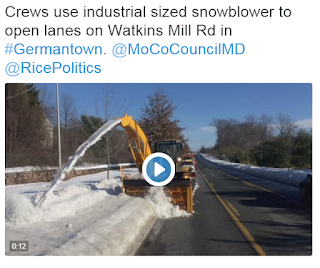 Clearing sidewalks on Watkins Mill