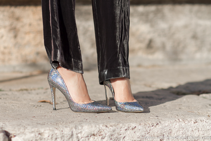 Blog adicta a los zapatos con stilettos color plata Made in Italy