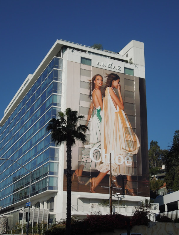 Giant Chloe billboard