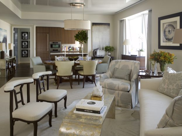 Creating an open concept dining room house design and - Open floor plan living room kitchen dining ...