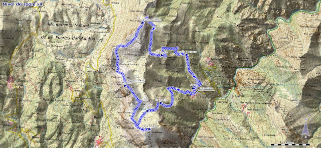 Mapa Peña Gradura desde Fabar