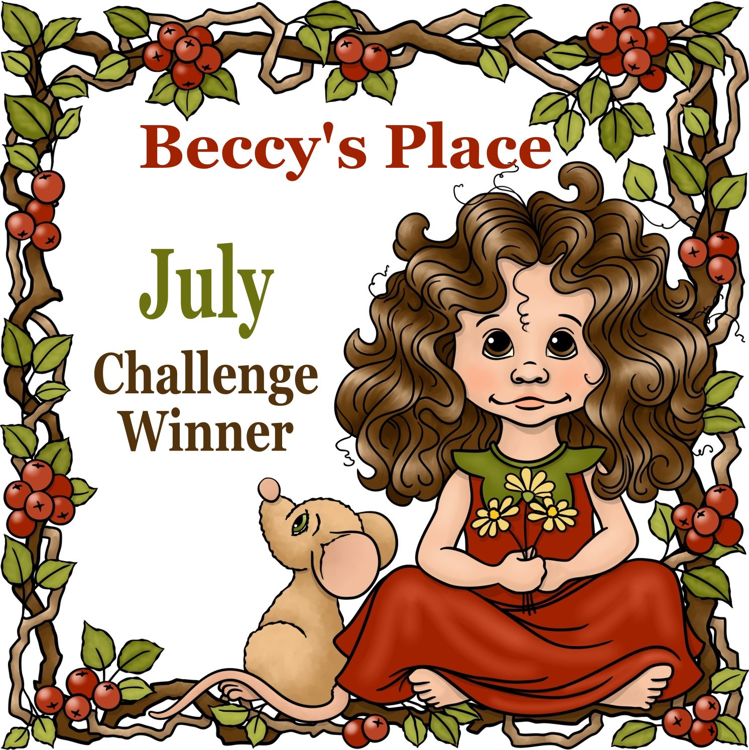 l am a winner from Beccy's Place