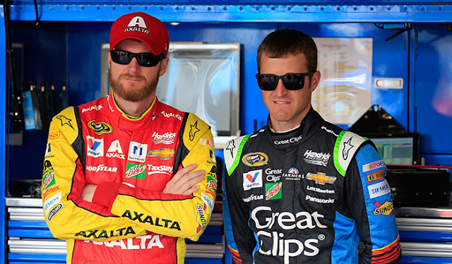 Dale Earnhardt Jr and Kasey Kahne