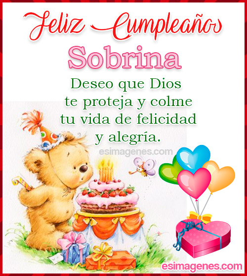 Tarjeta de Feliz Cumpleaños Sobrina