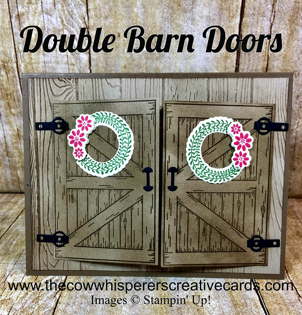 Barn Door, Card, Sliding Door Dies, Double Barn Door