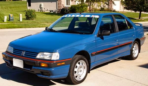 daily turismo: 2k: french blue: 1989 peugeot 405 dl