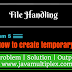 How to create a temporary file in Java?