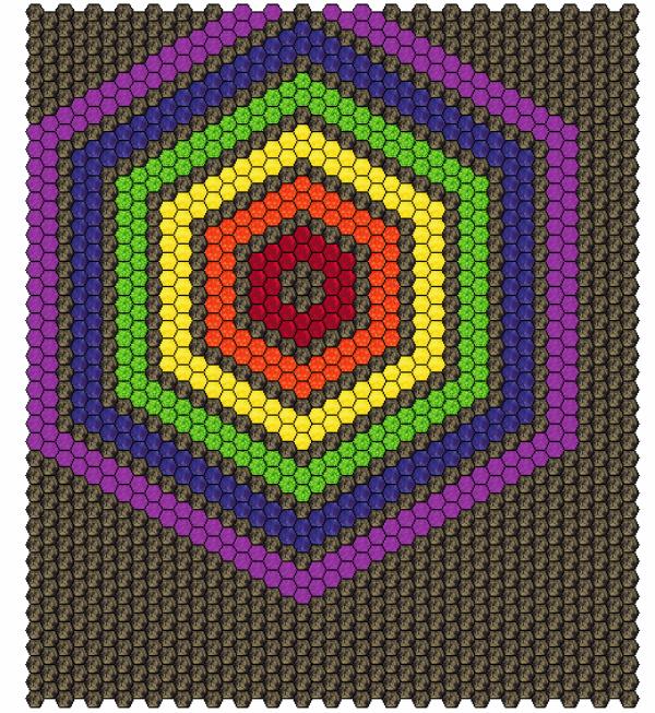 Hexie Rainbow quilt | DevotedQuilter.blogspot.com