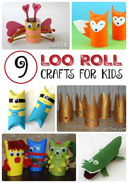 9 Toilet Paper Roll Crafts for Kids. Kids' Crafts. Crafts for Kids.