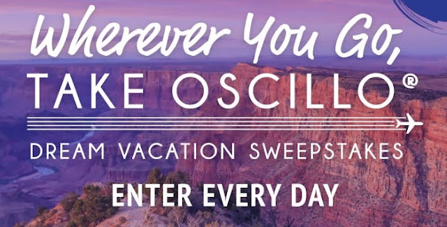 WHEREVER YOU GO OSCILLO SWEEPSTAKES