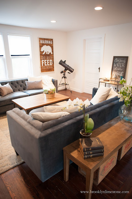 Rustic Living Room Makeover With A Modern Twist Brooklyn