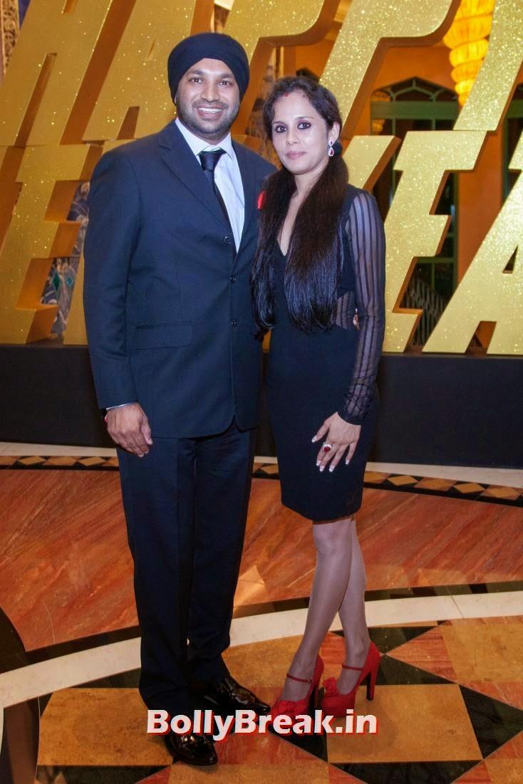 Kulwant Singh with wife Roohi, Happy new Year Dubai Premiere Photos