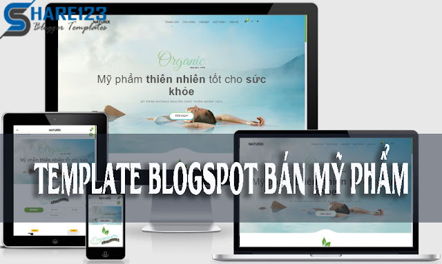 Template blogspot bán mỹ phẩm cực đẹp 2017