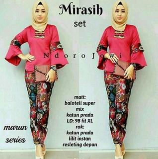 model rok span panjang batik terbaru
