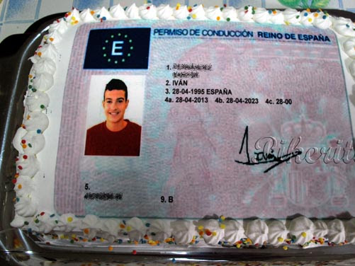 Tarta y fiesta de 18 años