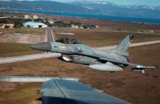 Πρώτη πτήση ελληνικού F-16 πάνω από τα Σκόπια