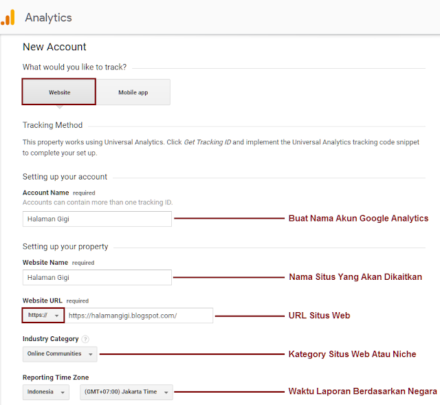 Cara Mengaitkan Blog Ke Google Analytics